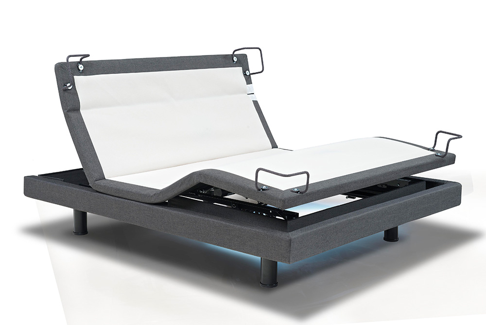 Handmade Adjustable Electric Beds : Reverie adjustable bed s textured motionflex base with