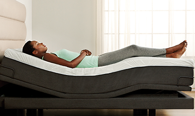 reverie adjustable bed-7s textured motionflex base with zenith