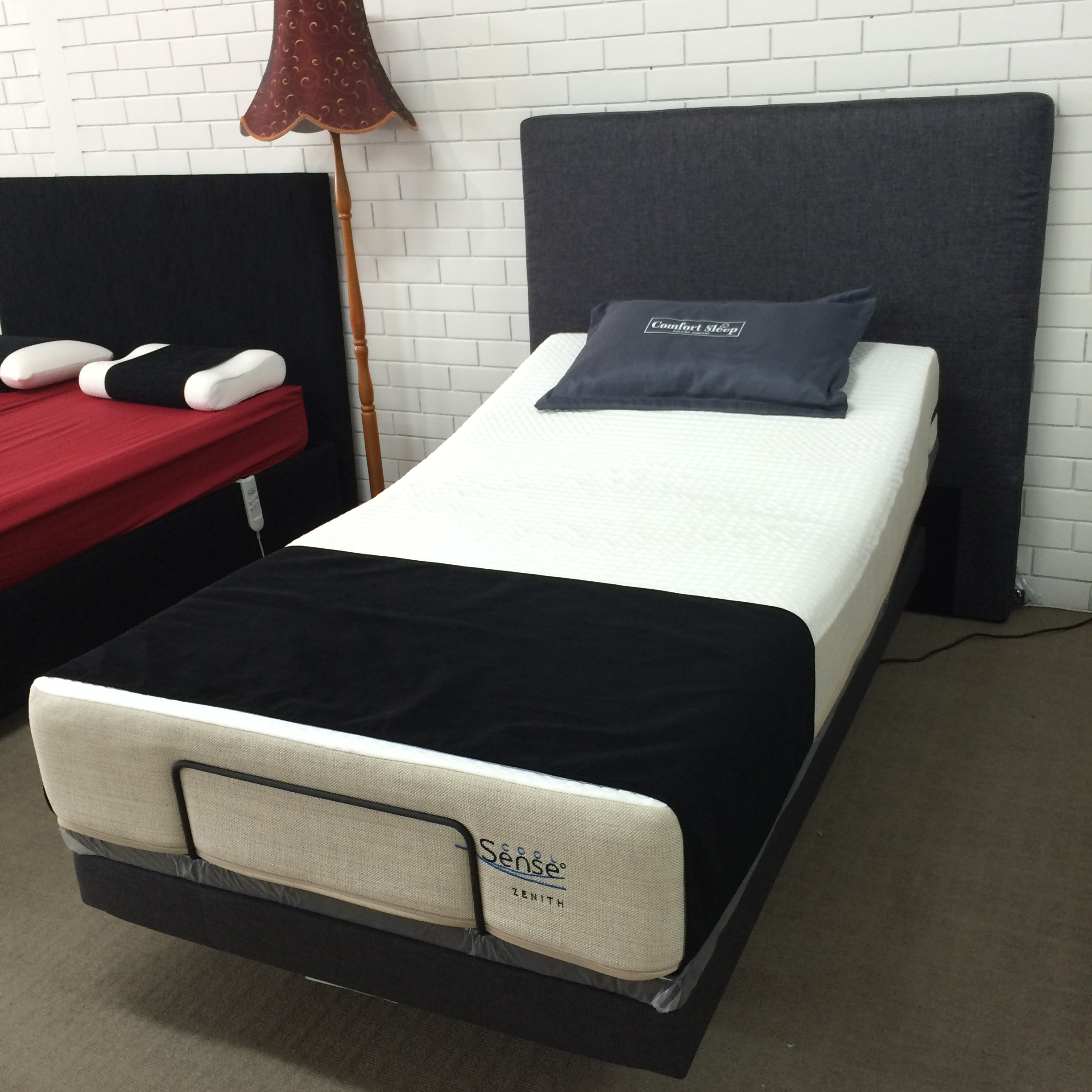 Reverie Adjustable Bed 7s Textured Motionflex Base With Zenith Cool Sense Mattress King Single
